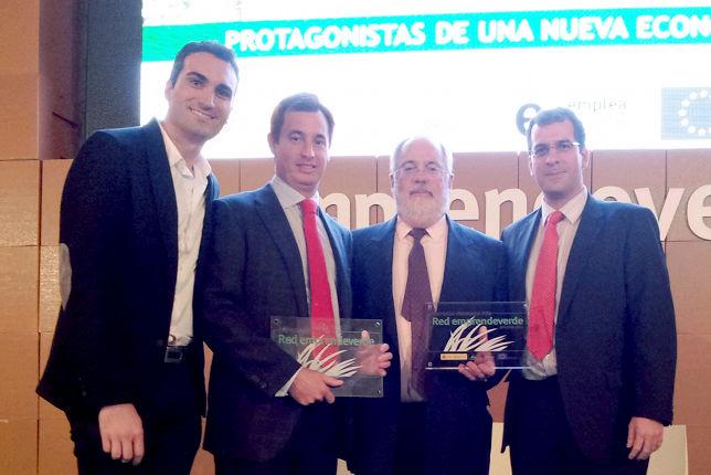 Premio otorgado por la Red emprendeverde al equipo de EsEnergética