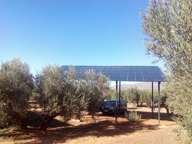 Instalación de 5,5 CV para riego solar de olivar en Granada