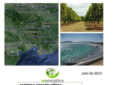 Proyecto de instalación de riego por microaspersión en el Carrizal. República Dominicana