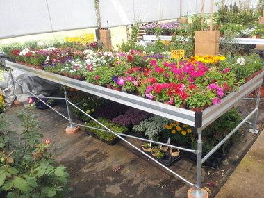 Suministro mesas cultivo a centro de jardinería Madrid