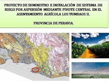 Proyecto instalación riego con pivot en La República Dominicana
