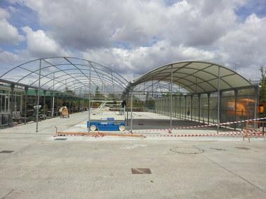 Traslado y montaje de centro de jardinería en Madrid