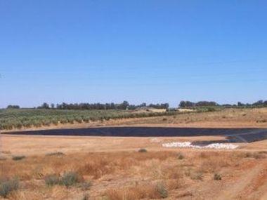 Proyecto, construcción y legalización de presa - balsa de tierra y polietileno en Sevilla.