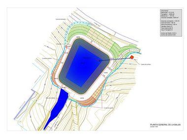 Proyecto legalización y construcción presa - lago para riego ornamental y agrícola en cortijo - salón de bodas