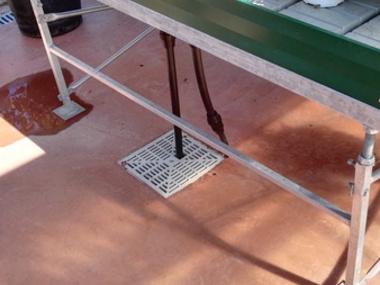 Montaje 110 fondos inundables y válvulas automáticas en nuevo Garden Center en Málaga.