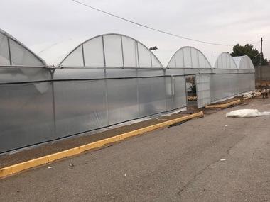 Reparacion invernadero y umbráculo de vivero en Ciudad Real con plástico y malla de sombreo
