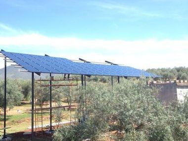 Instalación solar para riego en Colomera. Año 2014